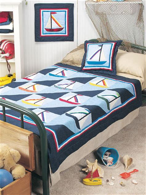 free baby quilt patterns designs for kids sailboat - Boat Bed Patterns