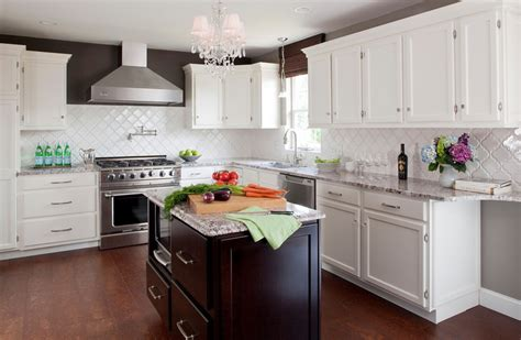 White Kitchen With Backsplash by Tile Kitchen Backsplash Ideas With White Cabinets Home
