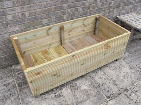 How To Make A Wooden Garden Planter by Make A Garden Planter From Decking