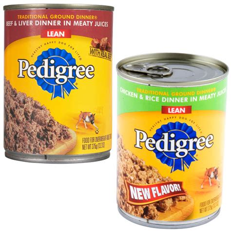 canned puppy food pedigree canned food image search results