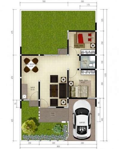 layout rumah luas tanah 50 desain rumah minimalis type 50 plus denah