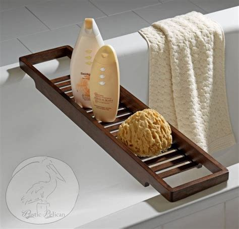 bathtub shelf caddy bathtub tray rustic bathtub caddy tub tray wood tub