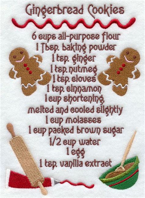 printable gingerbread man recipe gingrbread cookie recipies embroidery designs at