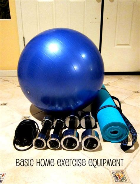 basic home exercise equipment workouts