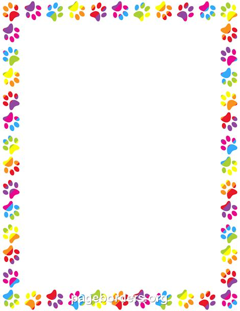 Printer Bordir Printable Rainbow Paw Print Border Use The Border In