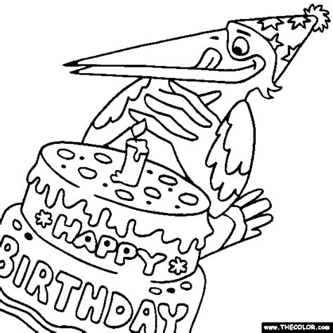 happy birthday dinosaur coloring page online coloring pages starting with the letter h page 2