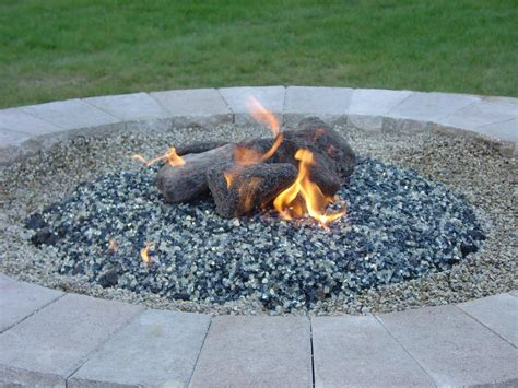 glass fire pit rocks outdoor decorations