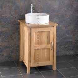 stylish solid oak single door cabinet with basin set