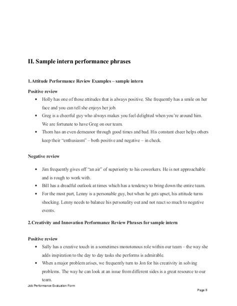 Appraisal Opinion Letter Sle Intern Performance Appraisal