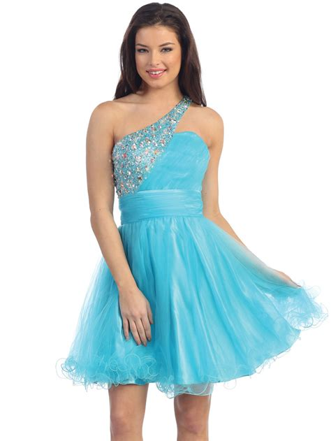 Blue Sweet Soft S M L Xl Dress 30396 jeweled one shoulder homecoming dress sung boutique l a
