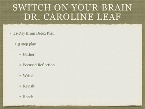 How To Detox Your Brain Part 1 Dr Caroline Leaf by Dr Caroline Leaf Detox Theleaf Co