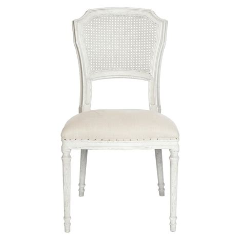 pair camilla french country white wash shabby chic dining chair kathy kuo home