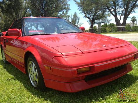 1988 Toyota Mr2 Supercharged Mint Survivor 1988 Toyota Mr2 Supercharged Original 30k