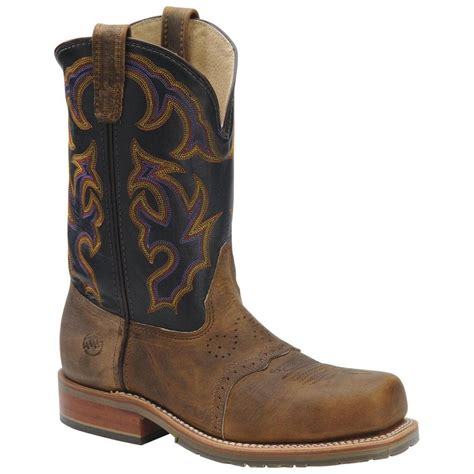 s h 174 wide square steel toe work ropers