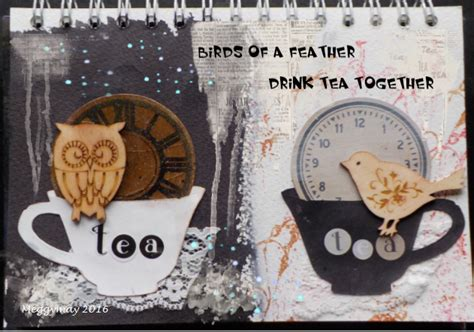 Birds Of A Feather Drink Together With This Girlie Flask by Meggys Way Birds Of A Feather Drink Tea Together