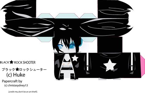 Black Rock Shooter Papercraft - black rock shooter papercraft by christasyd on deviantart