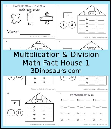 math facts for minecrafters multiplication and division books multiplication division math fact house books 3 dinosaurs