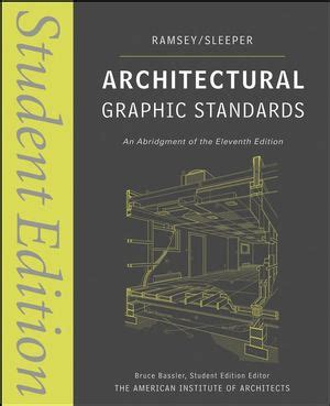 the architecture reference specification book updated revised everything architects need to every day books wiley architectural graphic standards student edition