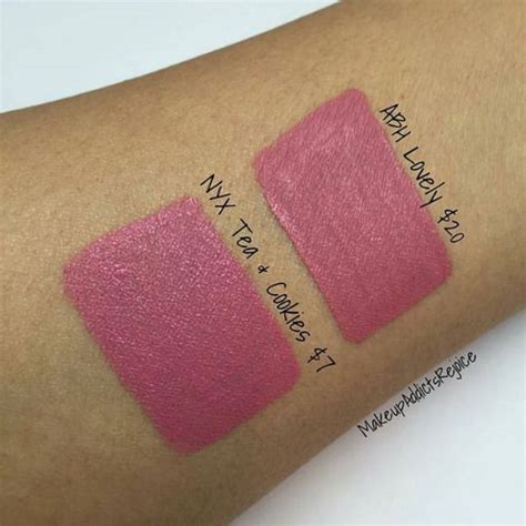 Beverly Abh Liquid Lipstick Lovely nyx tea cookies vs abh lovely makeup dupes