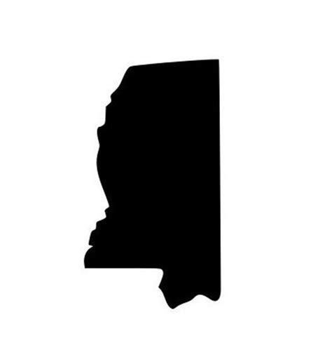 Window Decals Jackson Ms by State Of Mississippi Ms Outline Laptop Cup Decal Svg Digital