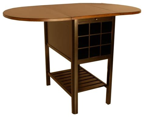 Drop Leaf Counter Height Table Sullivan Counter Height Drop Leaf Table In Cherry Finish Contemporary Dining Tables By
