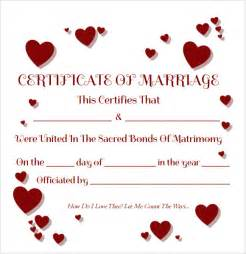 printable marriage certificate template sle marriage certificate template 6 documents in pdf