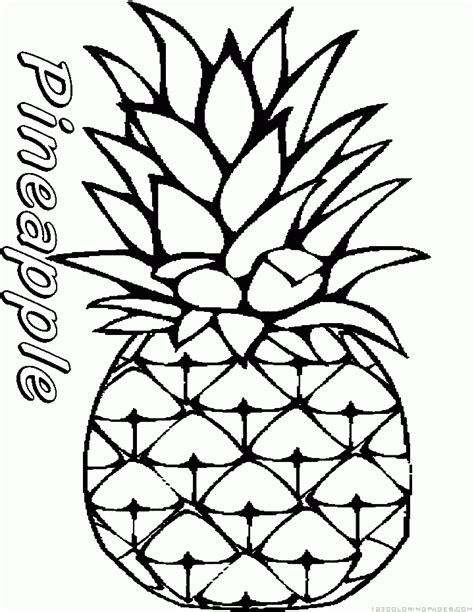 Fruit Pineapple Coloring Pages Pineapple Coloring Page