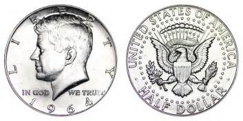 1964 d kennedy half dollars 90 silver composition value