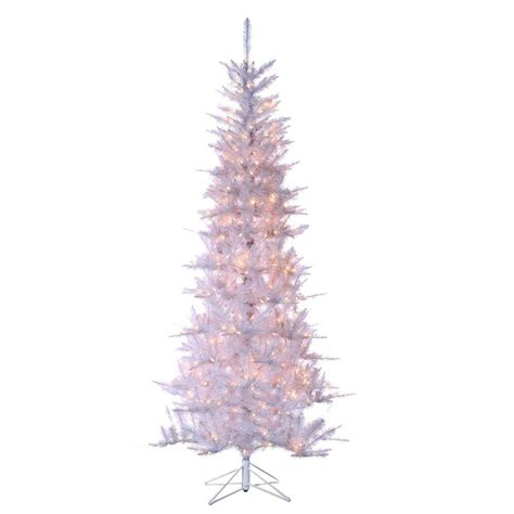 sterling 7 5 ft pre lit tiffany white tinsel artificial
