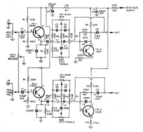 c945 transistor analog 2 transister c945 tone stereo electro circuit schema datasheet