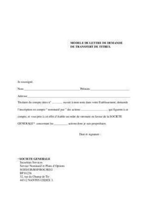 Demande De Transfert Lettre Modele Ordre De Virement Notices Et Pdf Gratuits