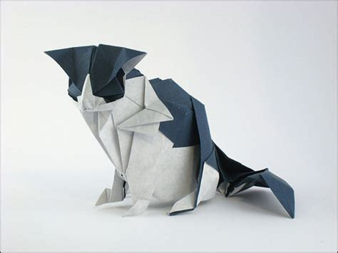 Origami Black Cat - origami cats