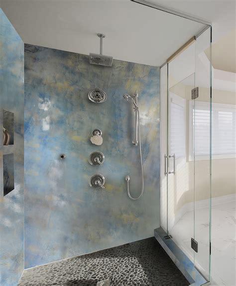 epoxy bathroom tile shower and accent wall epoxy metallic coatings easy diy kits