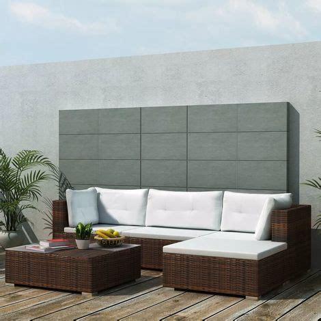 set divani da giardino vidaxl set divani da giardino 14 pz in polirattan marrone