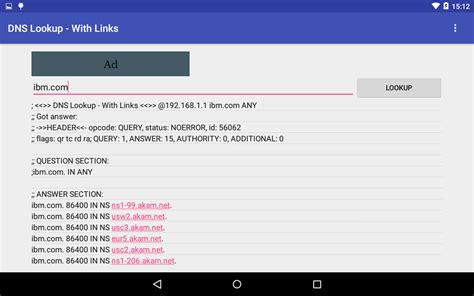 Email Dns Lookup Dns Lookup With Links Android Apps On Play
