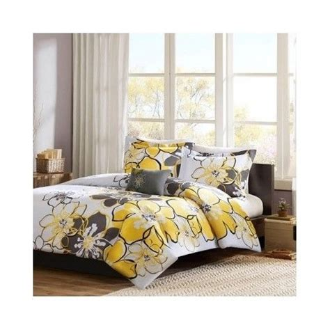 yellow twin xl comforter 3 piece comforter set twin xl bedding floral yellow gray