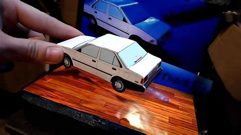 How To Make A Paper Model Car - brian s 3d paper models 1