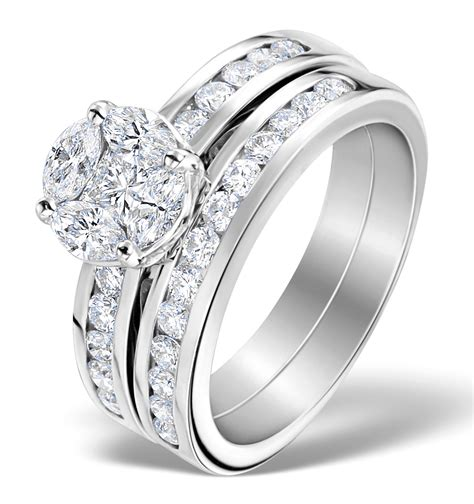 matching engagement and wedding ring 1 46ct