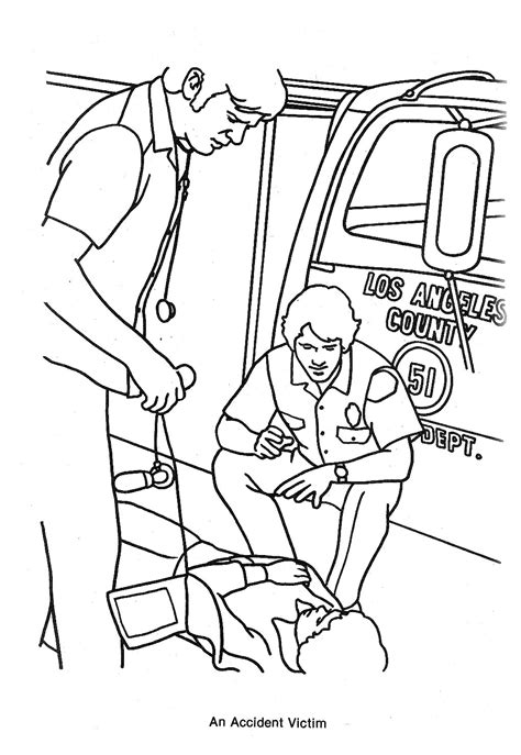 free coloring pages of emergency vehicles