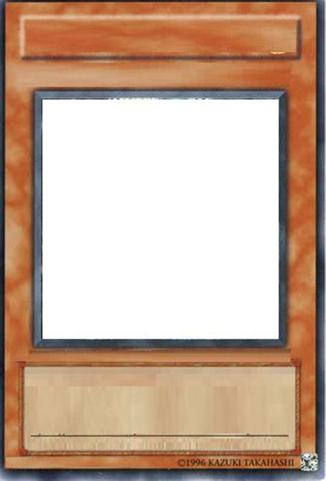 Blank Yugioh Card Template by Card Blanks