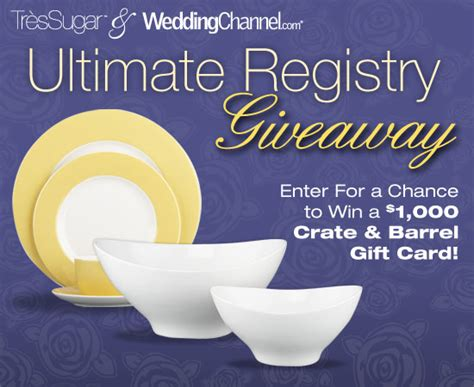 Crate And Barrel Register Gift Card - enter to win 1 000 to crate and barrel popsugar love sex