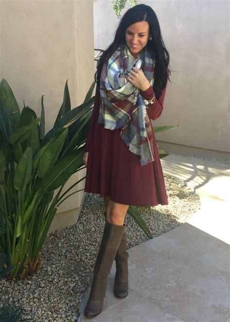 a swing dress a blanket scarf fashionista
