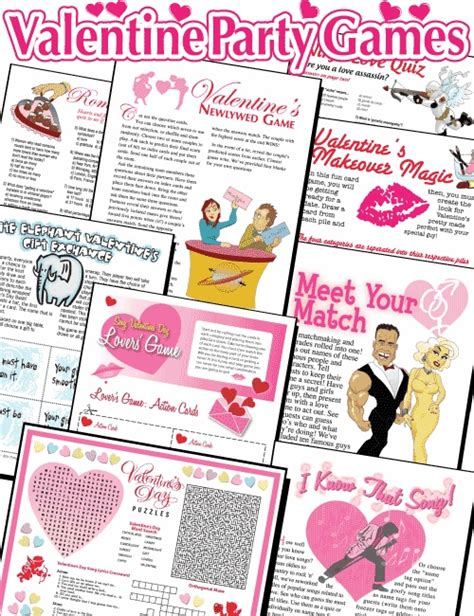 valentines day activities for couples printable valentines