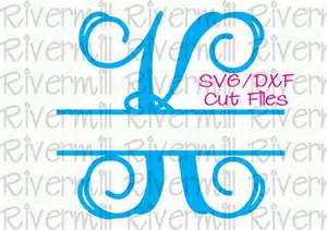 svg dxf split letter monogram cut files 26 letters