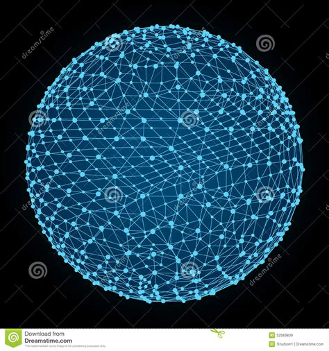 global digital 3d sphere global digital connections technology stock