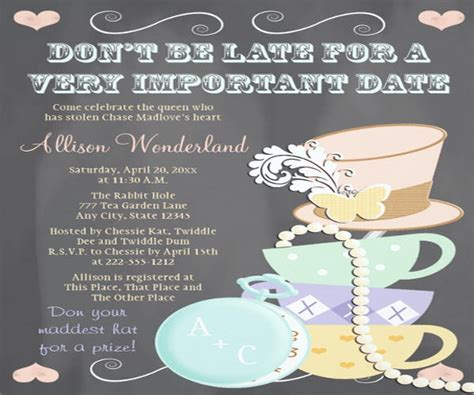 bridal shower tea menu 45 chalkboard menu templates free premium templates