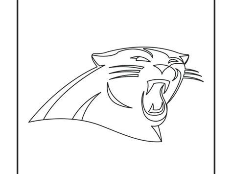 coloring page carolina panthers carolina panthers logo coloring pages and panthers