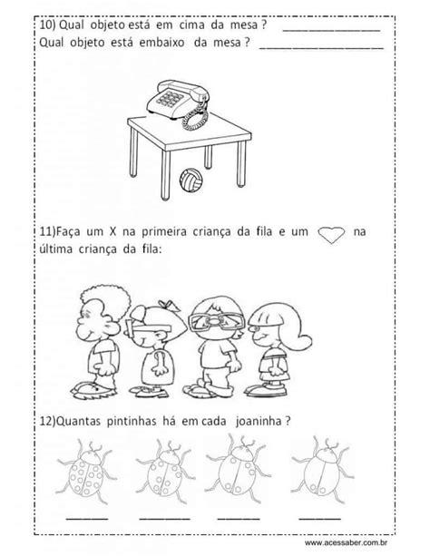 Avaliação educação infantil 5