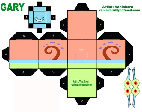 Cube Papercraft Spongebob Squarepant Papercraft by Cubeecraft Gary Spongebob By Vaniakorn5 On Deviantart
