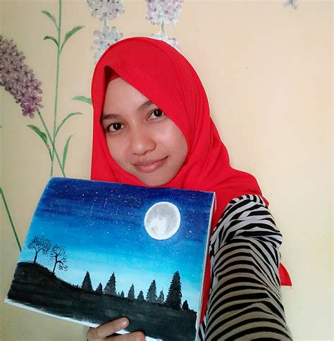 Cat Akrilik Faber Castell a painting of the sky using faber castell steemit